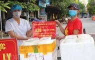 Hỗ trợ hàng trăm suất ăn cho lực lượng tuyến đầu chống dịch ở Bắc Ninh